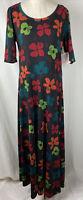 NWT LuLaRoe Ana Dress 3XL 22 24 Maxi Floor Length Floral Long Stretch Women's