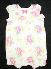 New Gymboree Pink Floral Ruffle Bubble Romper Outfit 6-12m NWT  Spring Girls