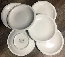 """1 Crate & Barrel Culinary Arts CAFEWARE WHITE Salad Plate 7 3/4 """" - 7 Available"""