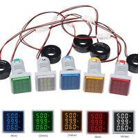 Digital LED Panel Mount AC 60~500V 100A Voltmeter Ammeter Amp Volt Dual Display