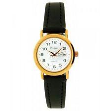 Relojes de pulsera con fecha de oro rosa de cuero
