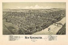 New Kensington Pa c1902 map 36x24