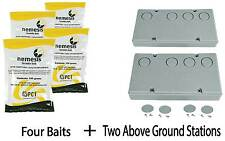 4 Baits & 2 Nemesis Termite Above Ground Monitor Bait Stations Pest Control