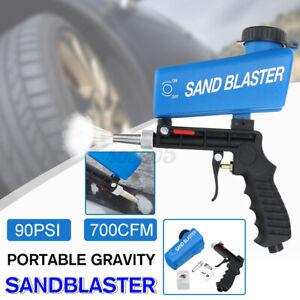 Portable 700CFM Gravity Sandblasting Gun Tool Pneumatic Sand Blasting Tool 90PSI