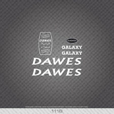 01118 Dawes Galaxy Bicycle Stickers - Decals - Transfers - White