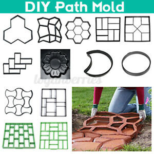 Garden Pavement Floor Mold Paving Reusable Concrete Stones Path Walk Maker Mould