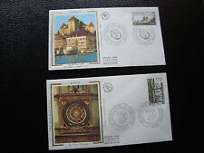 FRANCE - 2 enveloppes 1er jour 1976 1977 (rouen/annecy) (cy56) french