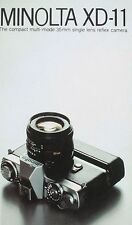 MINOLTA XD-11 SLR 35mm CAMERA BROCHURE -MINOLTA XD11  CAMERA