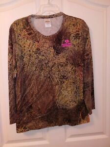 MOSSY OAK BRUSH CAMO LONG SLEEVE T-SHIRT SIZE LARGE NEW W/ TAG MOSSY OAK GRAPHIC