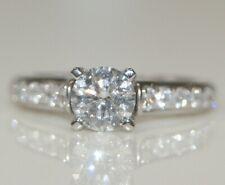 14K White Gold Ladies 1.00CT Round Diamond Solitaire Engagement Wedding Ring SZ6