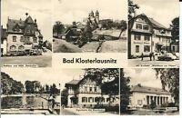 """Ansichtskarte Bad Klosterlausnitz """"HOG Ratskeller, Waldhaus zur Köppe, u.a."""" s/w"""