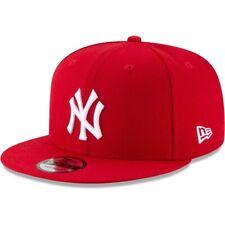 New York Yankees NY New Era 9FIFTY MLB Red Snapback Hat Cap Flat Brim 950