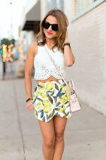 Topshop Lemon Print Skort Size Uk10