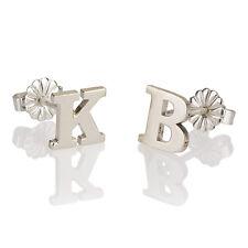Initial Stud Earrings Sterling Silver Block Capital Letter Earrings- oNecklace ®