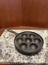 Vintage GRISWOLD Cast Iron Aebleskiver Danish Cake Pan Egg Poacher 962A