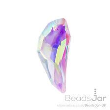 Chino Cristal diente encanto colgante Transparente Cristal 30 Mm Pack De uno (a50/4)