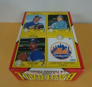 1991 Fleer Baseball Empty Wax Box No Hitters Randy Johnson Dave Stieb Fernando