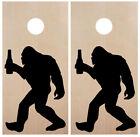 Bigfoot with Beer Cornhole Board Decals - PNW Sasquatch - Vinyl Die Cut Stickers