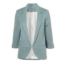 Autumn Winter Women Casual BOYFRIEND No Buckle Business Suit Jacket Blazer Coat Blue M