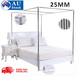 25mm Stainless Steel Bed Mosquito Canopy Nets Braket Frame Post For Single Doubl