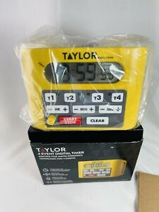 Taylor Digital 4 Event Commercial Kitchen Timer NEW 5839N