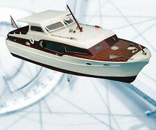 "Model Boat Plans chris craft comander 211/2"" R/C full Size Printed Plans & notes"