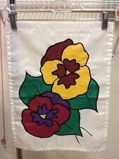 New listing Pansy Flower / Gardening Handmade Garden Flag
