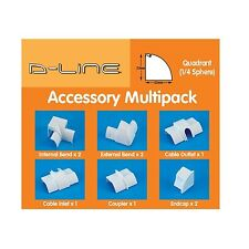 D-Line CABLE COVER ACCESSORY KIT 9Pcs Paintable, Suits 1/4 Round WHITE *UK Brand