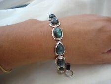 40ct Gorgeous Labradorite Sterling Silver Bezel Bracelet