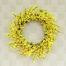 Door Hanging Wall Window Flower Yellow Leaf Wreath Home Party Festival Decor USA