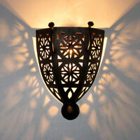 Marokkanische Orient Schirm MAROKKO Lampe Eisen Handarbeit Wandlampe BOHA-K