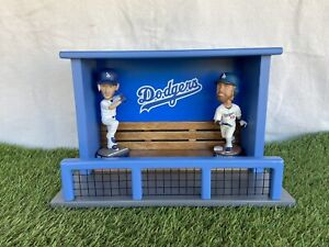 Los Angeles Dodgers Baseball Bobblehead Mini Dugout Display Case Bench Office