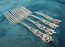 """New listing Four Mixed Floral Series No. 5 by Watson Newell 6 3/8"""" Tea forks no mono Nice"""
