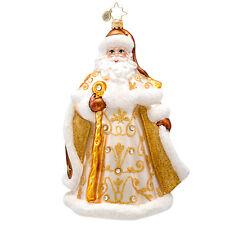 Christopher Radko - Golden Tidings - Jeweled Gold Santa Ornament 1017232