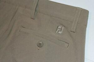 FootJoy Men's Performance Athletic Fit 5 Pocket Golf Pants Size 32x26 Beige  B14