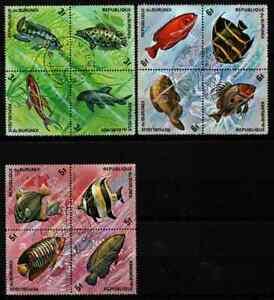 BURUNDI - LOT BLOCS FISH CTO MH