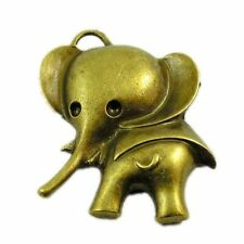 12pcs Antique Bronze Vintage Alloy Elephant Mouse Pendant Charms 30950