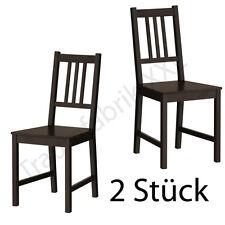 2xikea Chaise de cuisine en bois pin salle à Manger Brun Noir Neuf