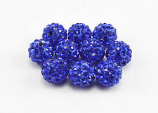 5/10/20pcs 10mm CZ Crystal Paved Clay Disco Ball Beads for Shamballa Bracelets
