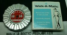 Vintage Walk-A-Matic Pedometer Miles Counter w Box & Instructions free shipping