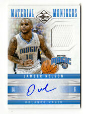 JAMEER NELSON NBA 2012-13 LIMITED MONIKERS MATERIALS AUTO #/49 (MAGIC,NUGGETS