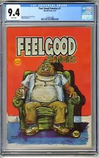 FEEL GOOD FUNNIES #1 1972 1ST PRINT CGC 9.4 NM White UNDERGROUND COMIX  F STACK