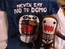 Limited Edition Domo Glow in Dark Skeleton Plush w/Tags Plus Domo T Shirt XS