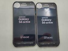 Lot of 2 Samsung Galaxy S6 Active G890A 32GB AT&T Check IMEI Grade D DA-215
