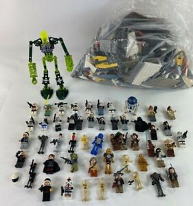 Lego Lot Star Wars,Indiana Jones over 50 Minifigures, Bionicle Lego 7 lbs MIX