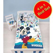 Mickey Mouse Wanderer Junior Bébé Duvet Couverture Ensemble+Couette+Oreiller