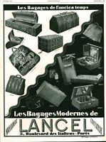 Publicité ancienne cadeaux Lancel bagages ancien temps 1928 issue magazine