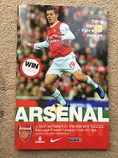 Arsenal v Wolverhampton Wanderers - Barclays Premier League 2010/11 Programme