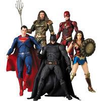 Justice League Action Figure Superman Wonder Woman Flash Batman Mafex Figures