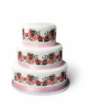 Blumen Rosen eßbar Tortenband Tortenbild Party Deko Geburtstag Hochzeit Ranke